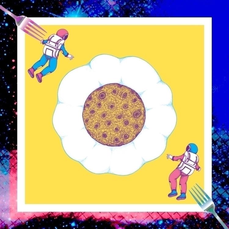 MOON YOLK moon, shape fried egg - ranggasme | ello