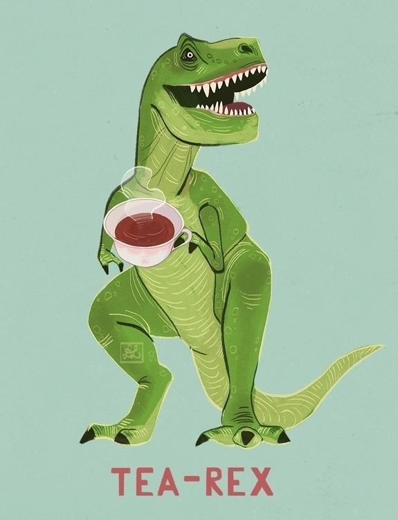 Tea-Rex - trex, trex, tyrannosaurus - dixieleota | ello