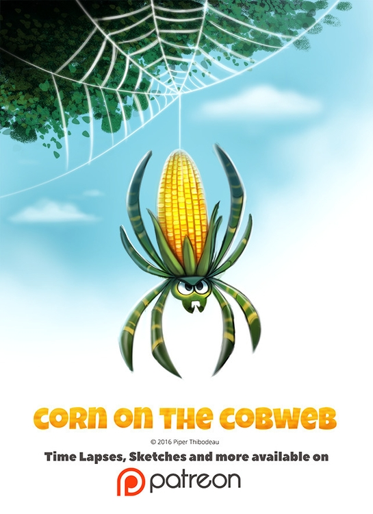 Day 1397. Corn Cobweb - piperthibodeau | ello