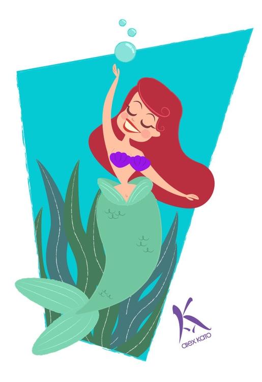 Ariel - illustration, digitalillustration - axkato | ello