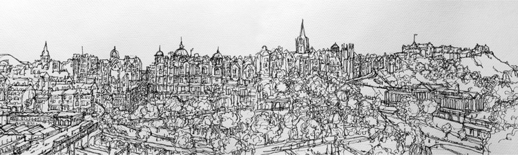 Edinburgh Skyline - illustration - naomiaustin | ello