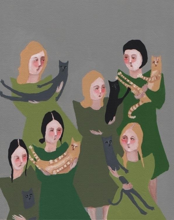 Girls Green - cats - jenniferpease | ello