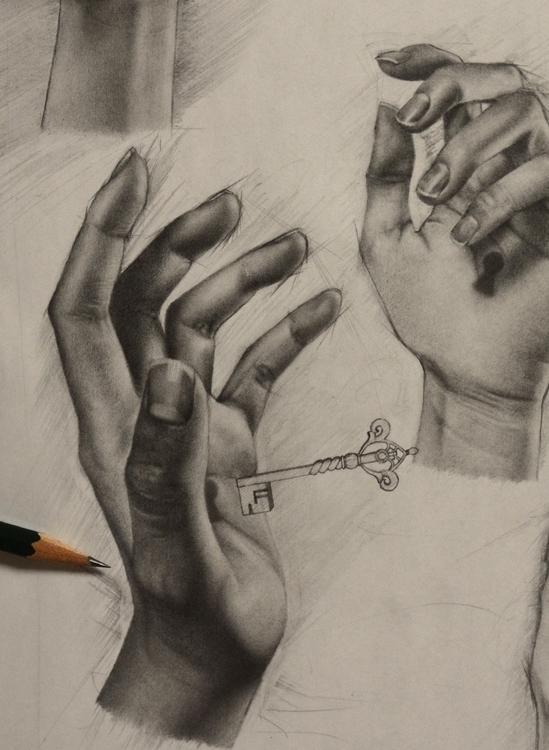 drawing, pencil - atsumikameoka | ello