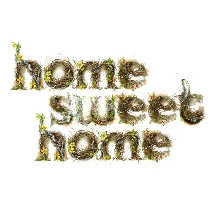 Home Sweet nest illustrated typ - amyhollidayillustration   ello