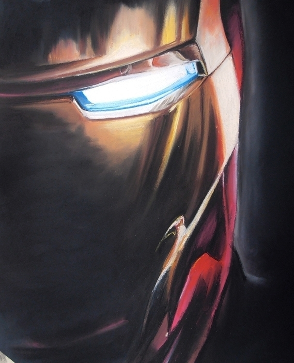 Iron Man | Soft pastel, 70 × 50 - fallydesign | ello