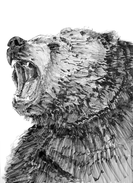 A3, Artpen + Tria Markers, 33 - bear - jandraws | ello