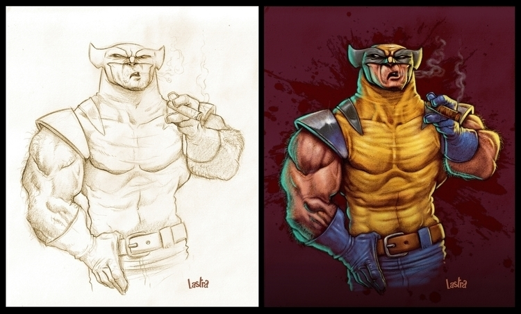 WOLVERINE - illustration, painting - pablo_lastra | ello