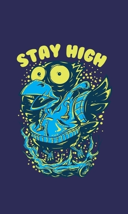 Stay high watch - design, vector - badsyxn | ello