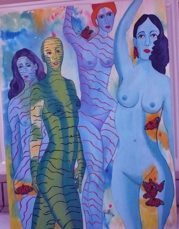 PLAY GIRLS MIXED TECHNIQUE/ PAP - kingrat-7292 | ello