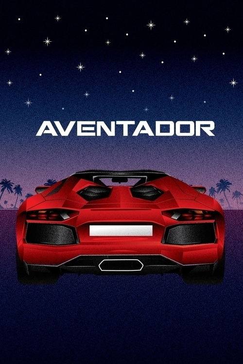 Illustrated poster Lamborghini  - jordancuellar | ello