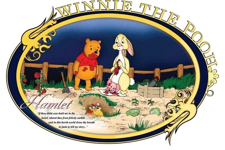 Winnie Pooh recreating Hamlet.  - jessieg-1223 | ello