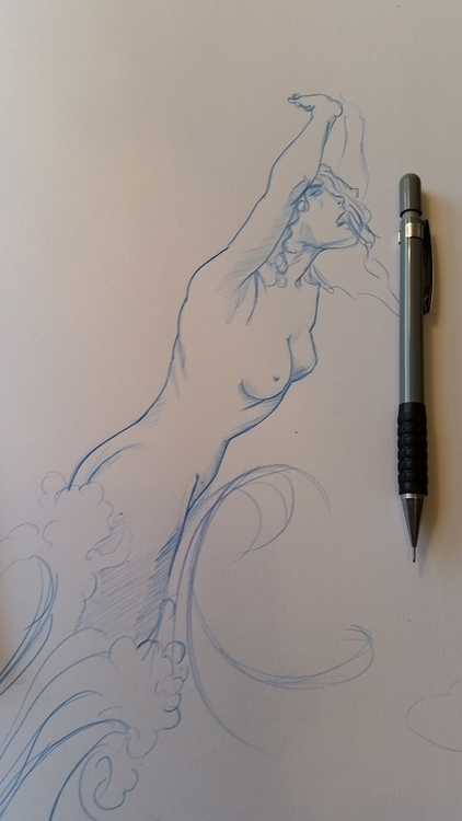 Pencil sketch study Arthur Rack - jakewoods | ello