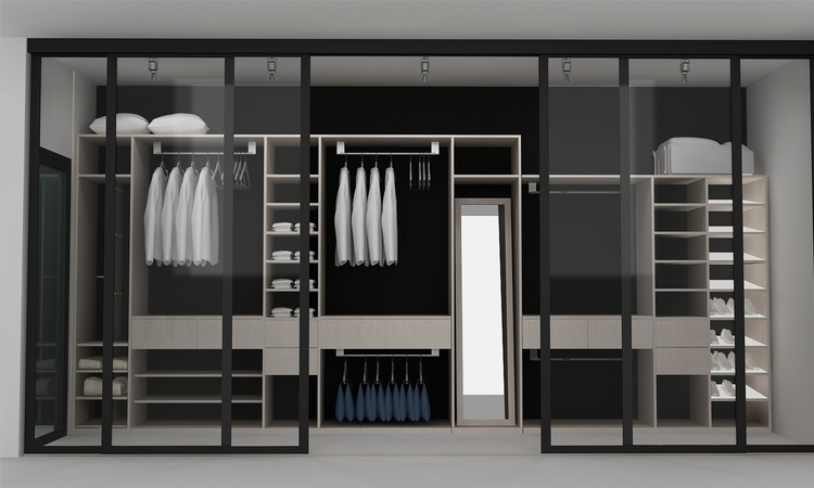 walk closet1_room design - 3d - ruzzletenga | ello