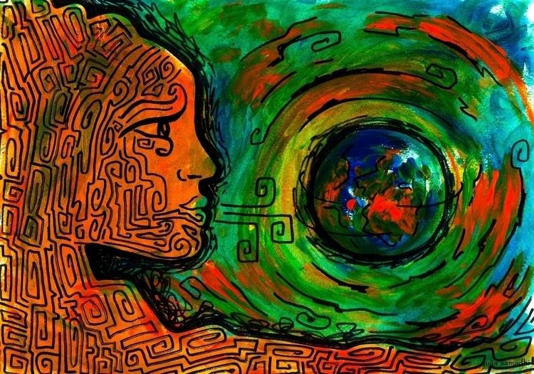 Ancestros - illustration, painting - juliasirena | ello