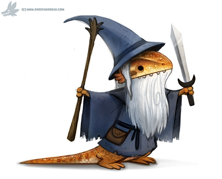 Daily Paint Bearded Dragon - 1097. - piperthibodeau | ello