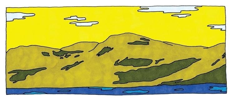illustration, feltpen, landscape - ajsazdrav | ello