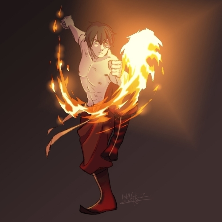 Zuko fanart - illustration, avatarthelastairbender - imagezart | ello