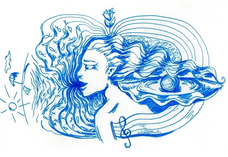 Cantos de Sirena - ocean, drawing - juliasirena | ello