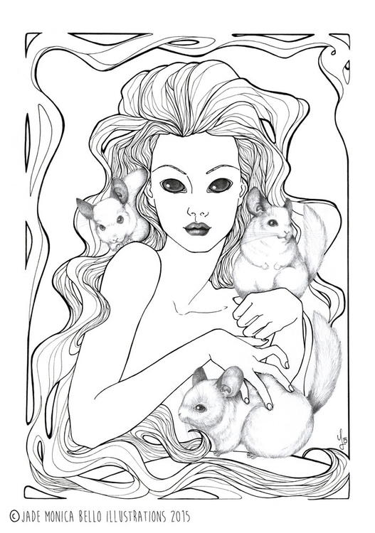 Nymph Chinchillas - illustration - jade_ideg | ello