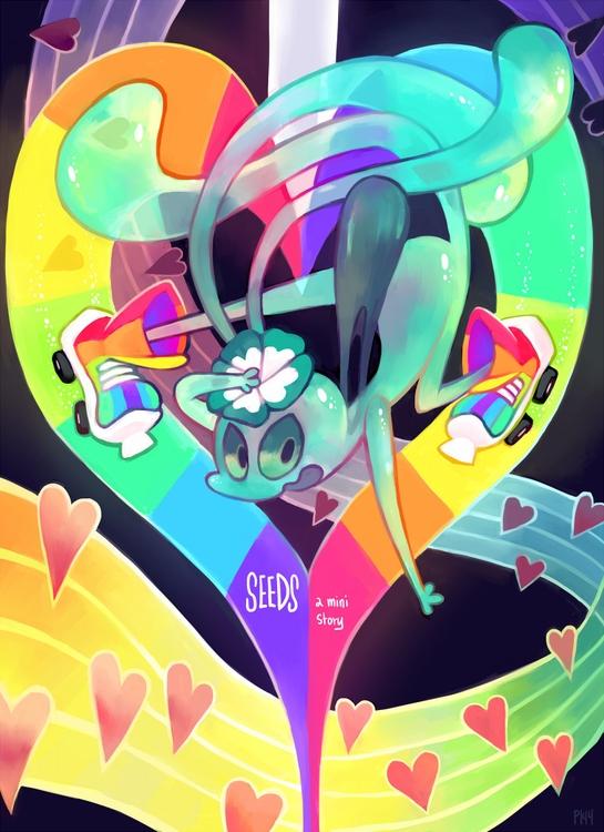 Cover Ch5 comic - floraverse - glitchedpuppet | ello