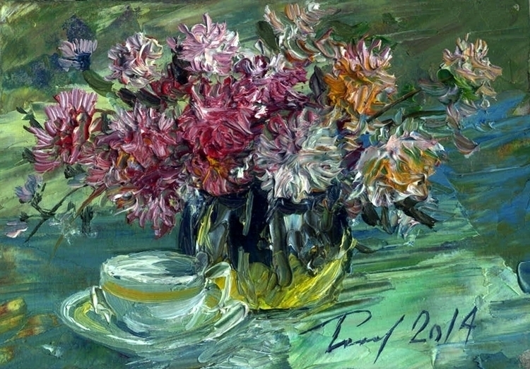 Flowers, bouquet - painting - rifkhas | ello
