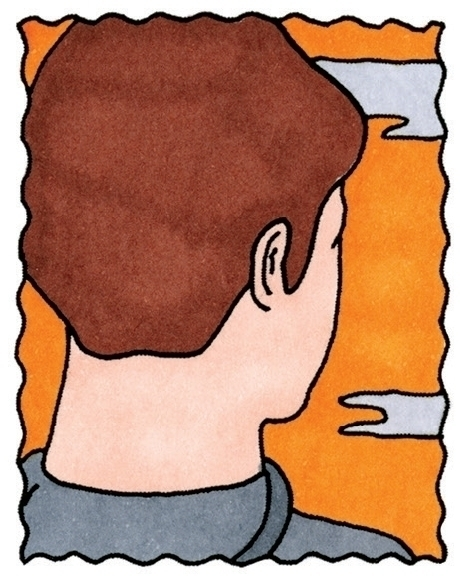 boy, head, sky, sunset, illustration - ajsazdrav | ello