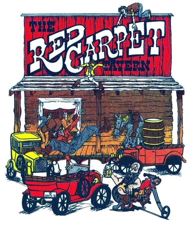 Silk Screen Red Carpet Saloon - illustration - creeshort | ello