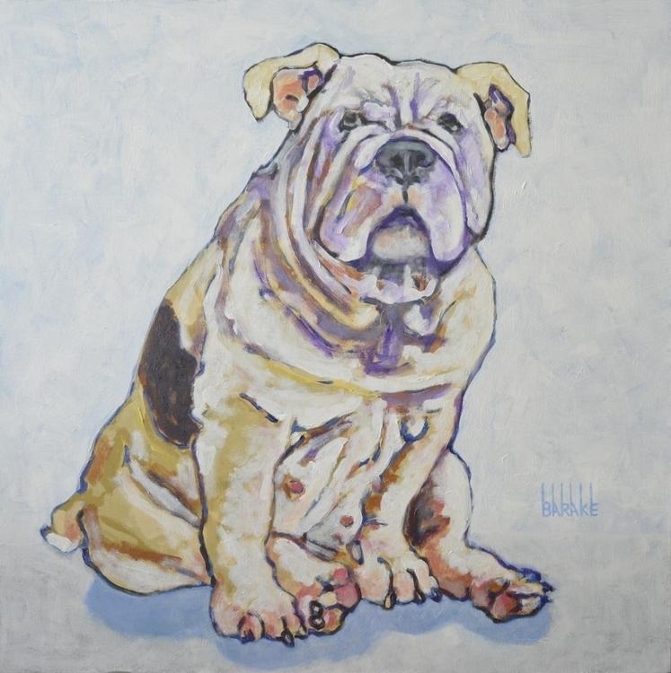 KISS ENGLISH BULLY - dog, englishbulldog - barakesculptor | ello