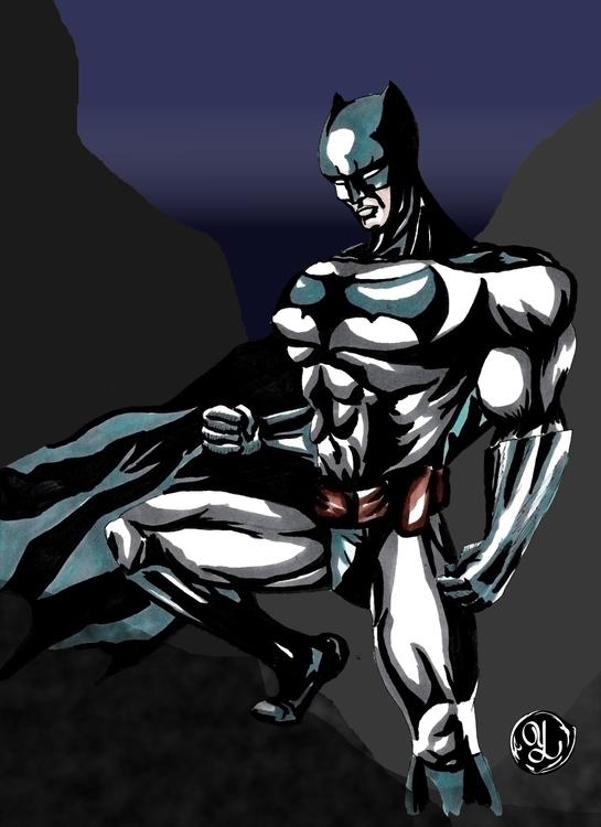 Batman - illustration, characterdesign - yaksiart | ello