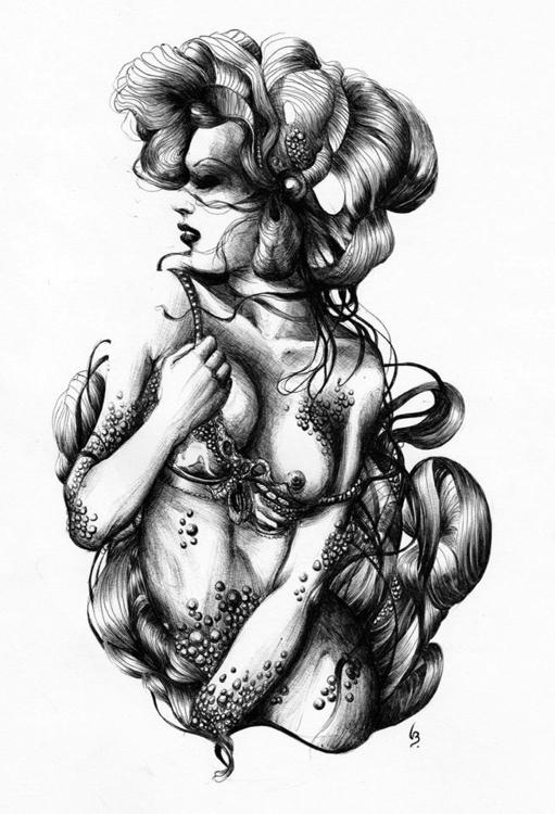 Ballpoint pen paper, 21x29cm - illustration - lenabousquet | ello