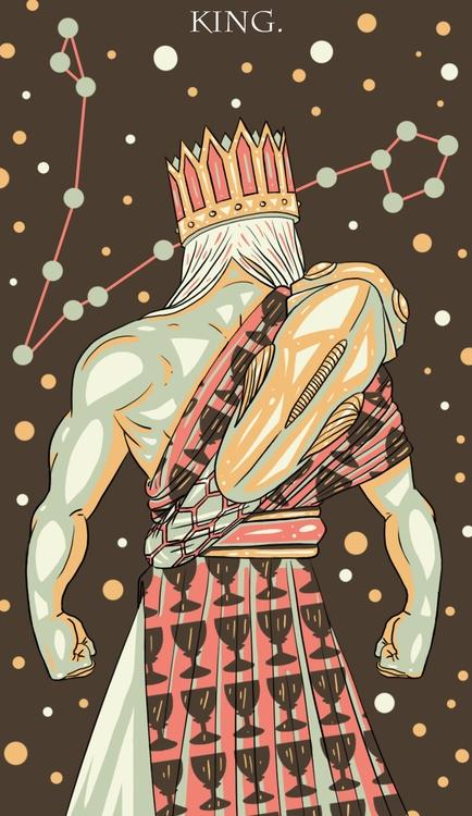 King Cups - tarot, illustration - wingywonky-5811 | ello