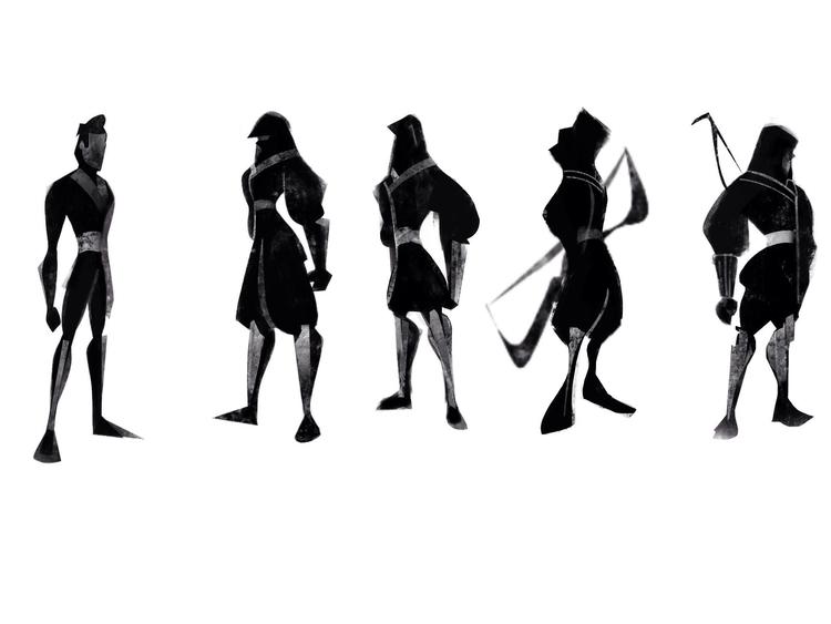 Silhouettes - silhouette, visualdevelopment - zachgracia | ello