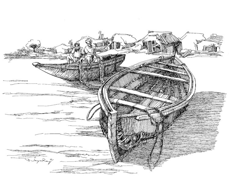 Fishing Boat- India - illustration - sjayaraj999   ello