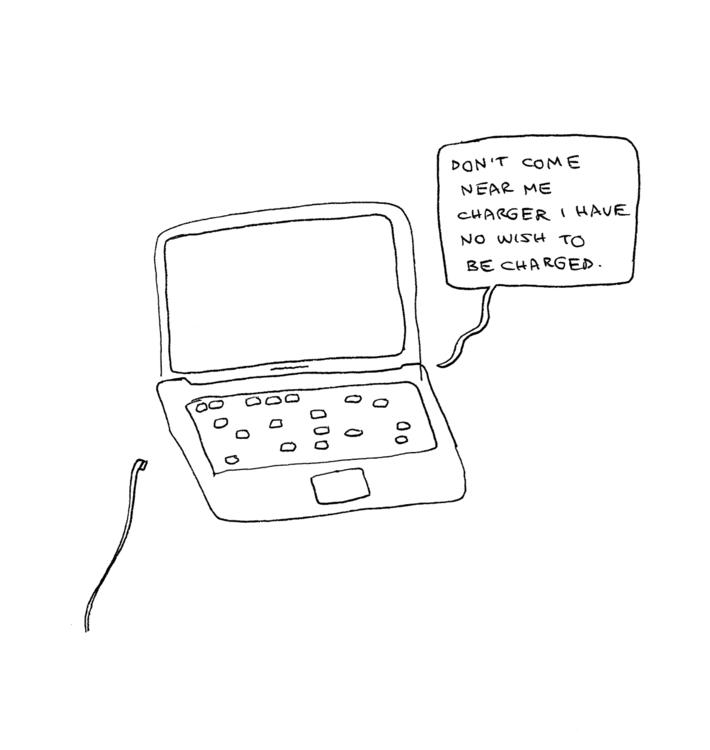 computer, charger, charge, illustration - ajsazdrav | ello