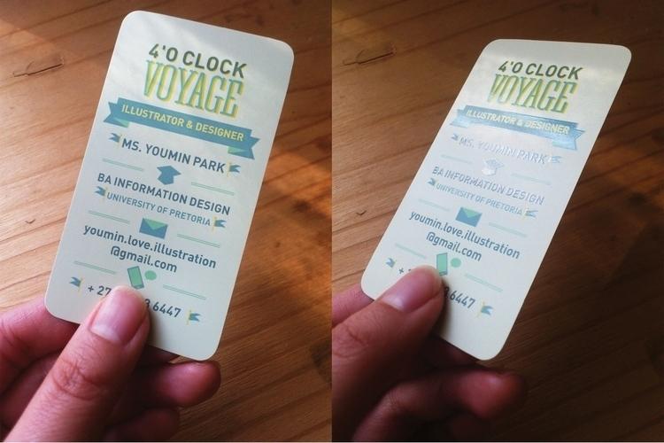Freelance business card design  - 4oclockvoyage | ello