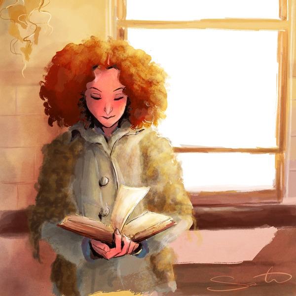 Afternoon break - books, sunlight - samanthadoodles | ello