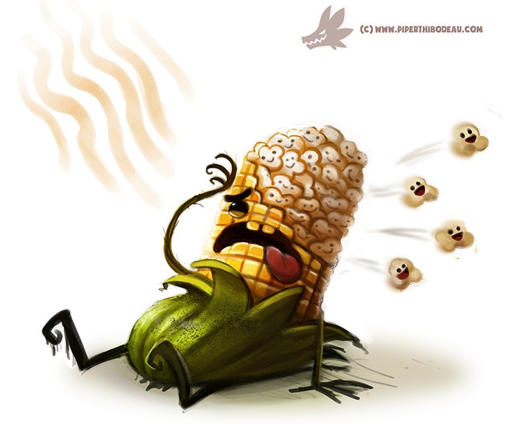 Daily Paint Popcorn - 988. - piperthibodeau   ello