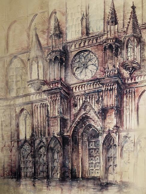 Cathedral 2 - watercolor, watercolour - grimdream | ello