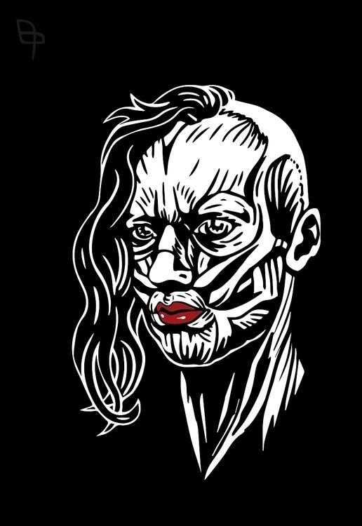Naked girl - illustration, portrait - coconutter | ello