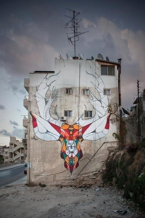 Deer - graffiti,urban,street,character - suhaibattar | ello