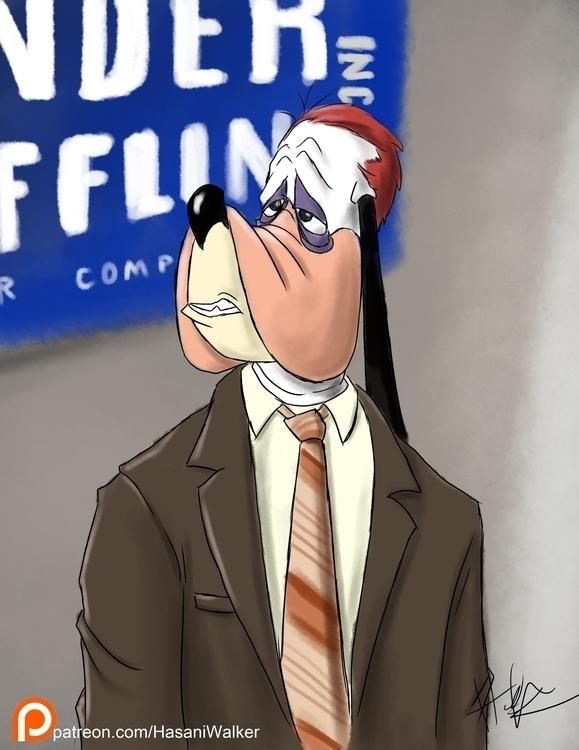 Droopy Flenderson - illustration - hasaniwalker | ello