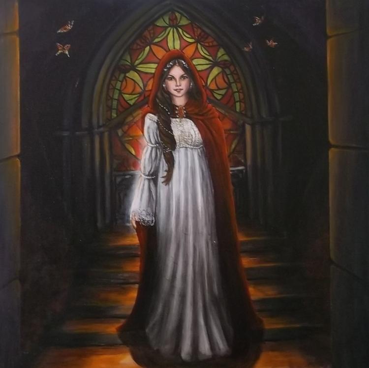 Secret window - painting, art, painting - spirita | ello