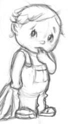 toddler -digital art - scetch, baby - spirita | ello