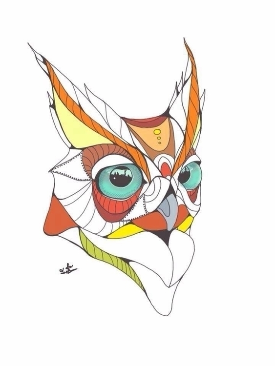 owl - owls, lineart, art, illustration - suhaibattar | ello