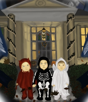Halloween -digital art - kids, halloween - spirita | ello