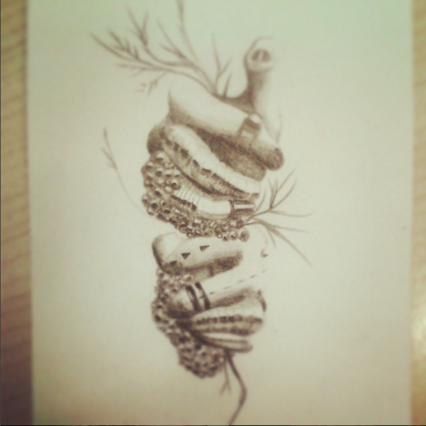 Mains - illustration, handdrawn - lenabousquet | ello