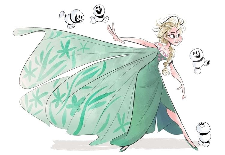 thought Frozen Fever wonderful - drawandestroy | ello