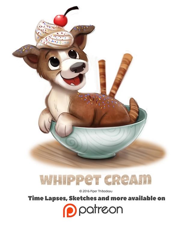 Day 1402. Whippet Cream - piperthibodeau | ello