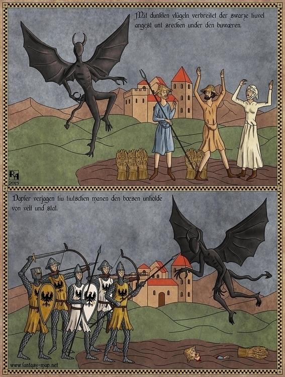 illustration, lovecraft, nightgaunt - robertaltbauer | ello