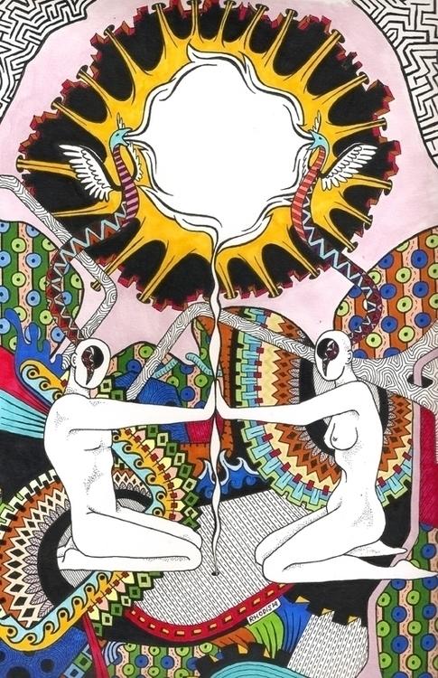 magic - drawing, illustration, soul - rhodis99 | ello